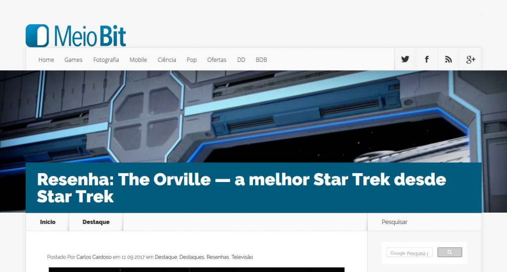 Meio Bit Resenha The Orville