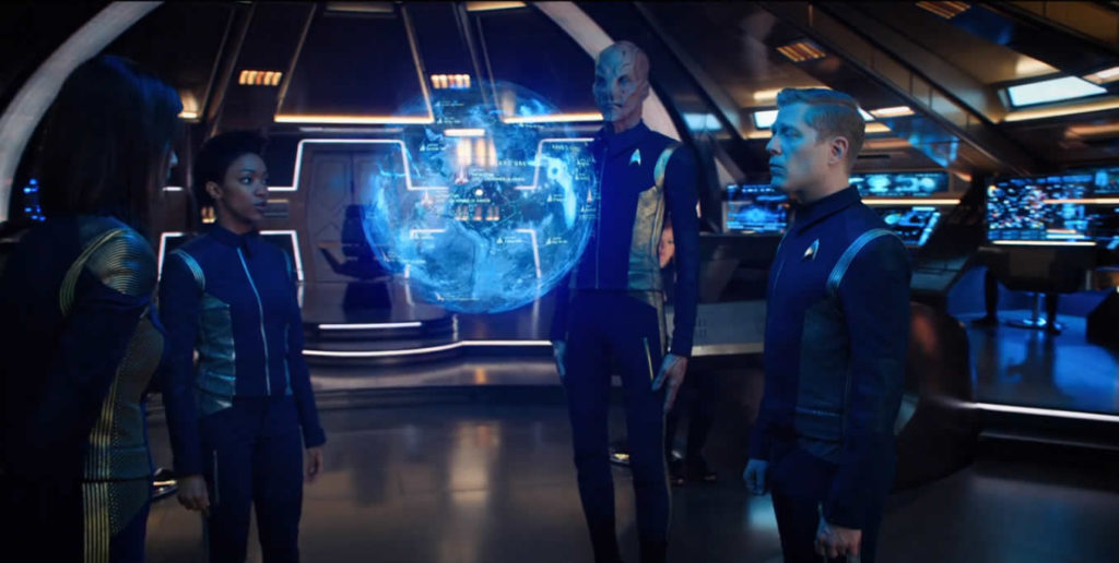 Star Trek Discovery S01E14 - The War Without, The War Within - Plano da invasão de Kronos